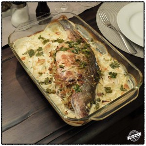Rockfish stuffed with crab