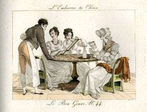 L'embarras du choix. Gatine, Georges Jacques. 1812. #1866,0407.901. The British Museum