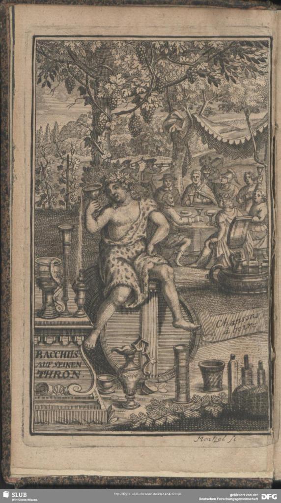 """Sallengre, Albert-Henri de. """"Bacchus auf seinem Thron"""" 1724. SLUB Dresden. [2]"""