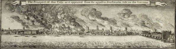 Leake's Survey of the City After the Great Fire of 1666 Engraved By W. Hollar, 1667. From the British Library. Shelfmark: Maps.Crace.Port.1.50