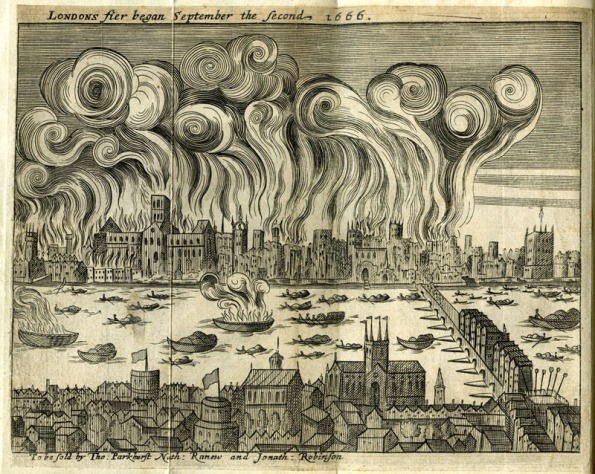 Shlohavot, or, The burning of London in the year 1666. Rolle, Samuel. Image from the Museum of London.
