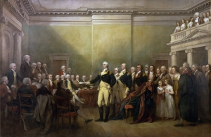 General George Washington Resigning His Commission. John Trumbull. 1817. Wikipedia.