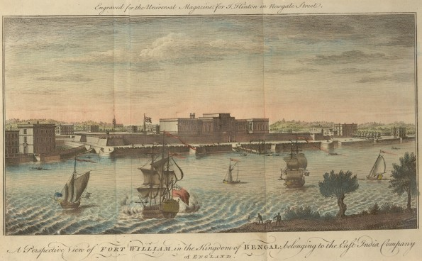 A Perspective View of Fort William, in the Kingdom of Bengal. 1760. Wikipedia.