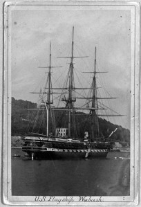 USS Wabash. c 1871-1873. Image from Naval History and Heritage Command.