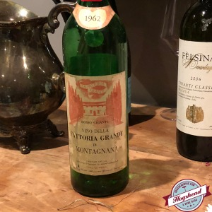123fe4044 Blind Wine #1 – 1962 Fattoria Grande di Montagnana Chianti Imported by T.  Elenteny Imports. Alcohol 12.5%. Past prime, drinkable but just barely! Not  Rated.